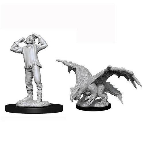 Dungeons & Dragons Nolzur's Marvelous Miniatures - Green Dragon Wyrmling