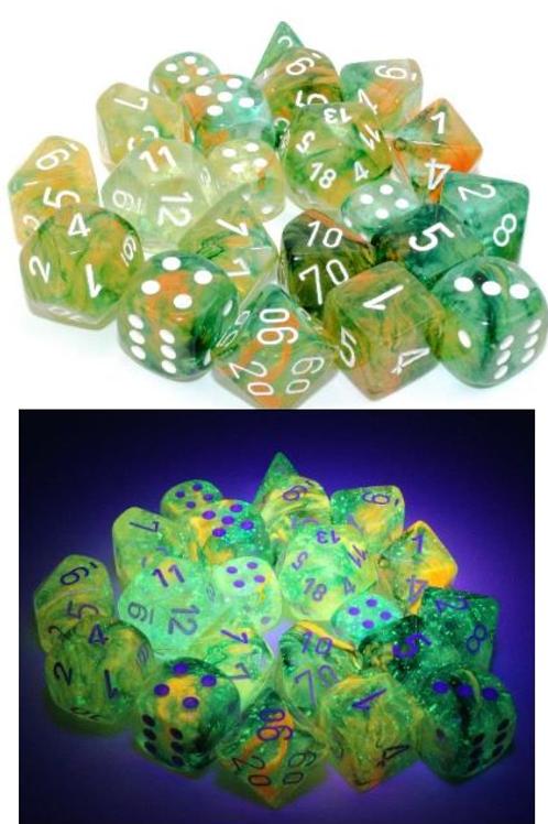 Chessex Polyhedral Set Luminary Nebula Spring/White 27555