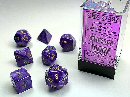 Chessex Polyhedral Set Lustrous Purple/Gold 27497