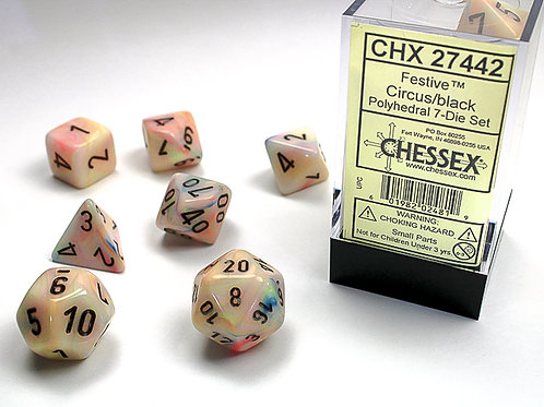 Chessex Polyhedral Set Festive Circus/Black
