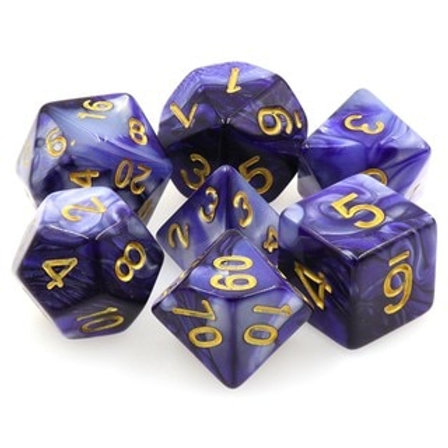 Fusion Polyhedral Dice Set - Sorcerous Storm