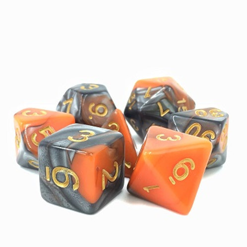 TMG Fusion Polyhedral Dice Set - Waylander's Forge
