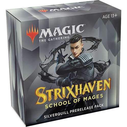 MTG Strixhaven Prerelease Kit - Silverquill + 2 Boosters