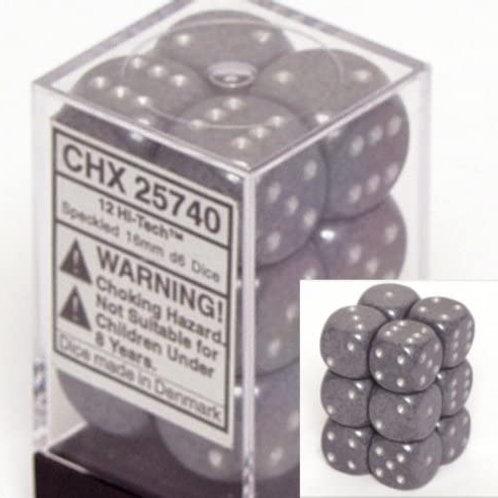 Chessex 12D6 Set Speckled Hi Tech 25740