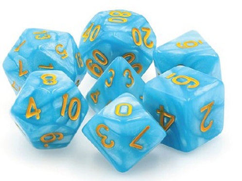 TMG Pearlized Polyhedral Dice Set - Permafrost
