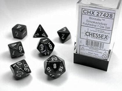 Chessex Polyhedral Set Borealis Smoke/Silver 27428
