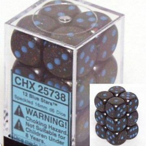 Chessex 12D6 Set Speckled Blue Stars 25738