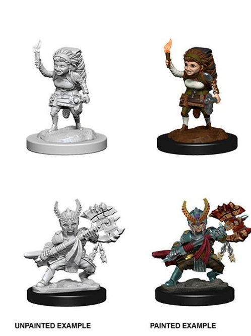 Dungeons & Dragons Nolzur's Marvelous Miniatures - Halfling Female Fighter