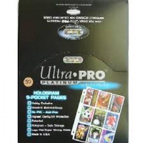 UltraPRO 9 Pocket Binder Pages 100ct
