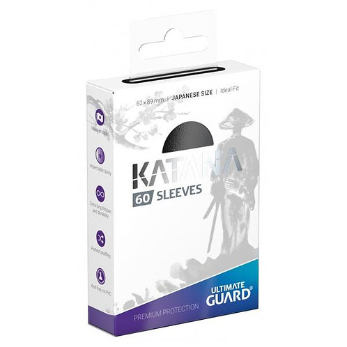 Ultimate Guard - Katana Sleeves - Japanese Size - 60ct Black
