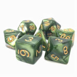 TMG Pearlized Polyhedral Dice Set - Druid's Summer