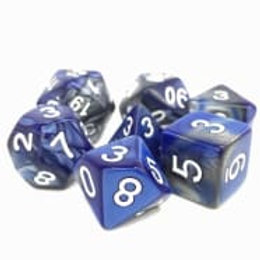 TMG Fusion Polyhedral Dice Set - Blessed Steel