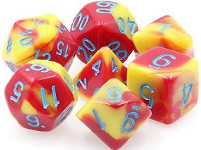 TMG Fusion Polyhedral Dice Set - Honour Guard