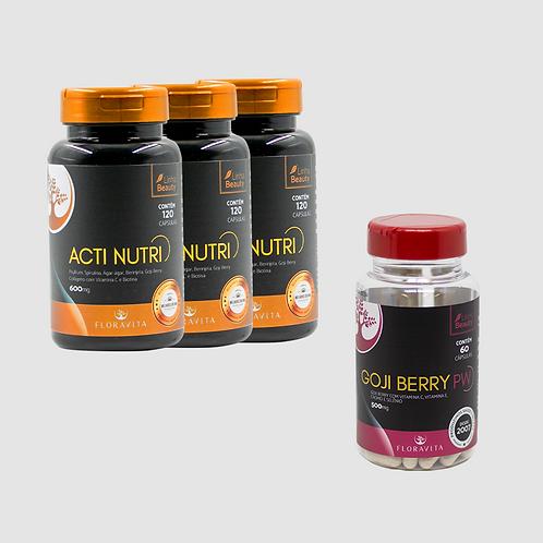 Combo Derretedor de Gordura: Acti Nutri 3 meses + Derretedor de Gordura 1 mês