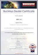 Сертификат дилера Buckleys 2021-2022 .jp