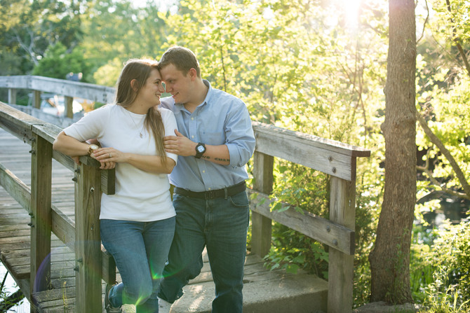 Jess & Billy // Plymouth Waterfront // Brewster Gardens & Jenny Pond // Engagement Photos //