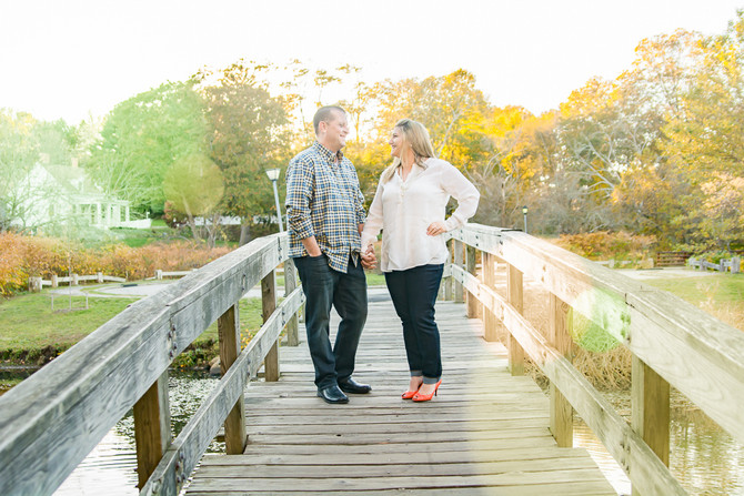 Tim O'Connor & Brianna Cabit // Engagement Photos // Fall 2016 // Brewster Gardens // Plymou