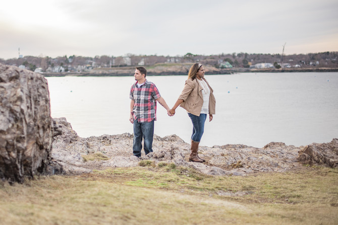 Rea & Radu // Engagement Photos // Chandler Hovey Park  // Marblehead Lighthouse // 3-18-17