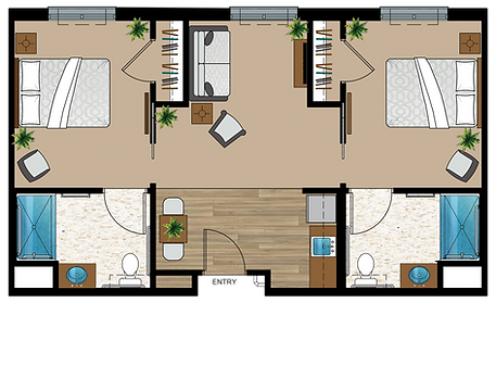 2 Bedroom Assited Living