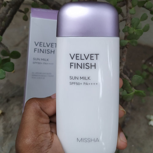 Missha velvet finish sunmilk spf 50-70ml