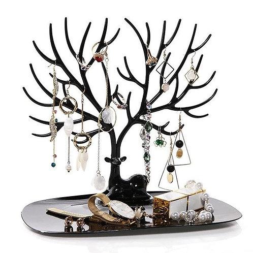 Deer tree shaped jewellery holder - Black