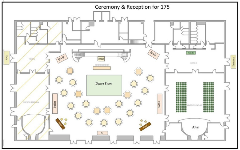 Seating for 175