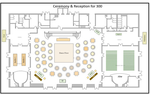 Seating for 300 Guests