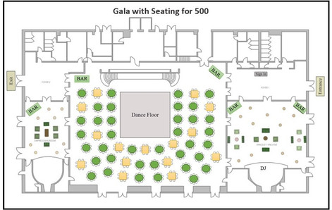 Gala with Seating for 500