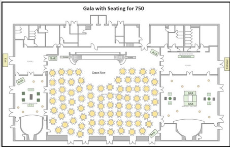 Gala with Seating for 750
