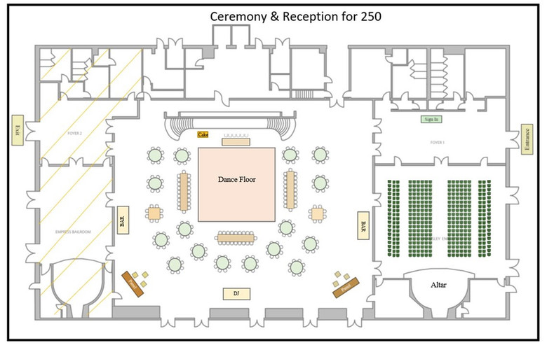 Seating for 250 Guests