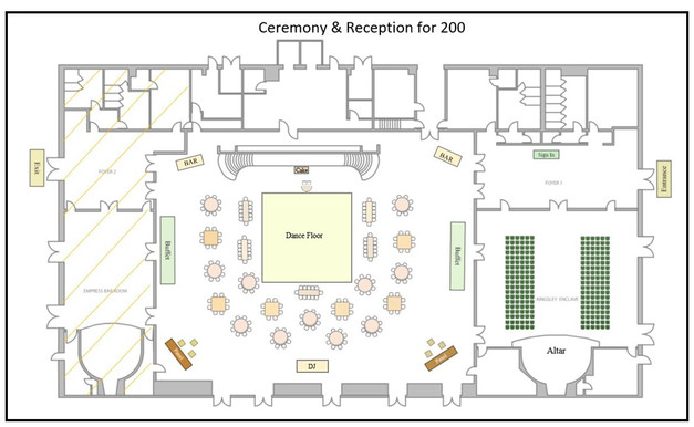 Seating for 200