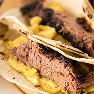 Brisket Breakfast Taco