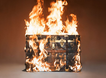 Tyler Shields Sets Louis Vuitton Trunk on Fire