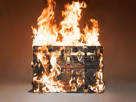 Tyler Shields Sets Louis Vuitton Trunk on Fire
