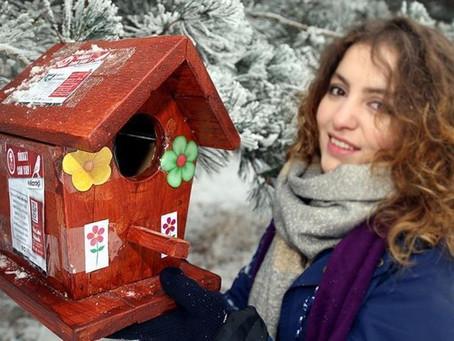 Erzurum'da Minik Kuşlar Kışın Ölmesin Diye...