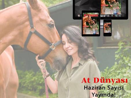 Atlar ve Aromaterapi, At Dünyası'nda Bu Ay Kapak Konusu
