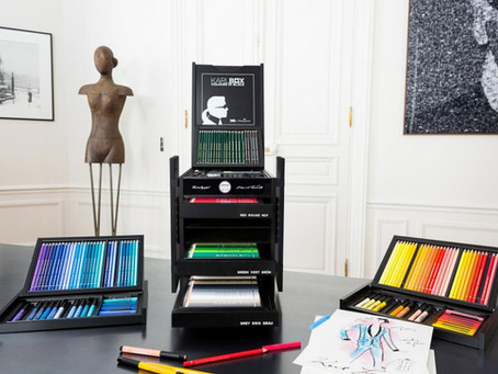 Karl Largerfeld creates $2,800 drawing and coloring kit for Faber Castell