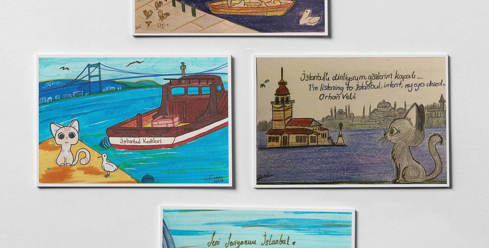 İstanbul Kedileri Kartpostal Koleksiyonu I