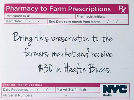 New York'ta Eczacılar Sebze-Meyve Reçete Edebilecek