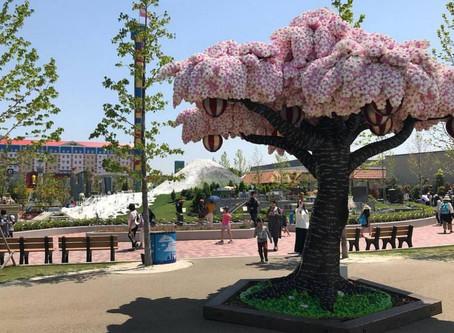 A Full Blown Sakura Tree Made from 880,000 Lego Bricks Marks The One-Year Anniversary of LEGOLAND Ja