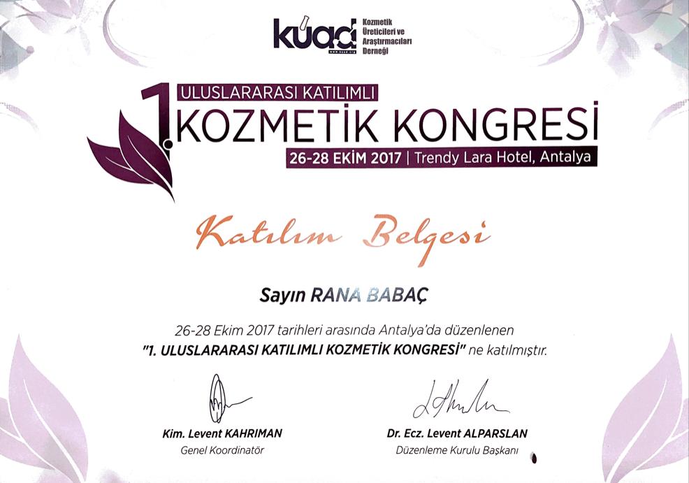 1. UA. Kozmetik Kongresi 2017