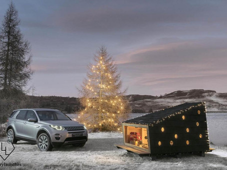 Land Rover Builds a Compact Christmas Cabin for Discovery Sport