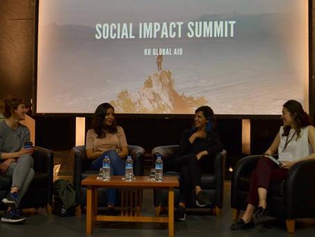 Rana Babaç Çelebi KU Global Aid Sosyal Etki Zirvesi'ndeydi