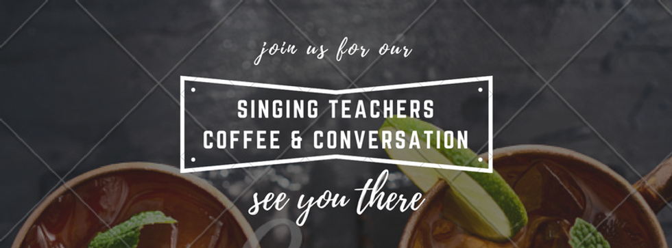 Singing Teachers Coffee and Conversation