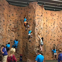 Students go rock climbing at the Space Center