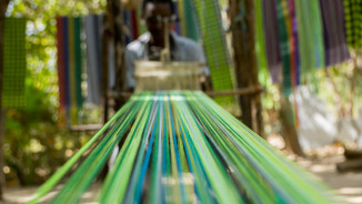 A traditional weaving