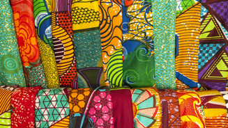 The vibrant fabrics at the markets
