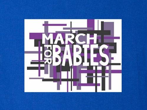 Blue March 4 Babies T-shirt Unisex Fit