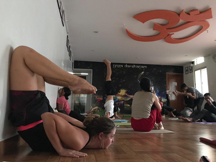 Hatha yoga Back bend practise