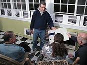 Chip Forelli is instructing photography students at a Cape May NJ Workshop.